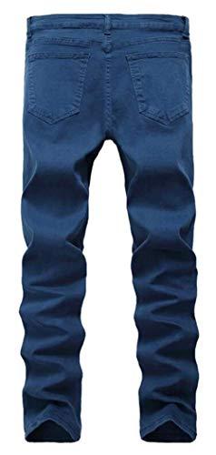 Negro Jeans Slim Fashion Denim Destruido Rasgado Vintage Hellgrau Pantalones Estiramiento Fit Skinny Leisure Jeans 5wX4qXZ