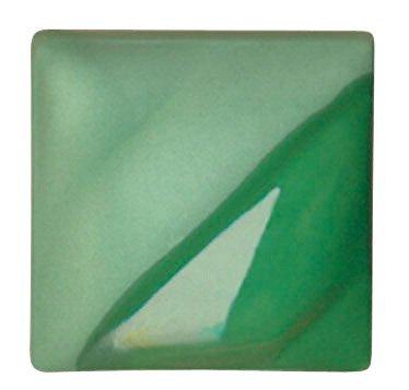 AMACO Velvet Lead-Free Non-Toxic Semi-Translucent Underglaze, 1 Pint, Leaf Green V-354