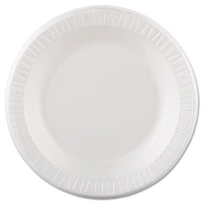 Dinnerware Non Laminated Foam (Dart 10PWQR 10.25 in White Laminated Foam Plate (Case of 500))