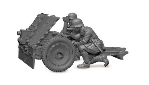 Z6156 Zvezda Figurine Maquette Canon 75 Mm Allemand