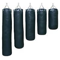 S.B.J - Sportland Profi Boxsack mit Aufhängekette Kunstleder Deluxe schwarz ungefüllt, 150 cm
