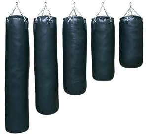 Saco de boxeo (150cm, piel sintética), color negro