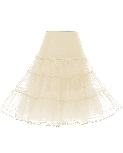 67cm 50 Petticoat Jupon Champagne Longueur Rockabilly Dresstells Vintage Années Tulle En OkXiPZTu