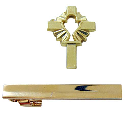 First Communion Tie Clip and Chalice Lapel Pin Set for ()