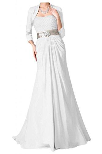 Vestido de novia sin tirantes con estilo Toscana Bolero vestidos de Gasa de noche de satén de novia vestidos de fiesta de madre de largo vestidos de bola blanco