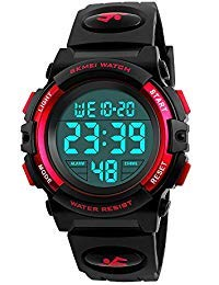 Dodosky Boy Toys Age 5-12, LED 50M Waterproof Digital Sport Watches for Kids Birthday Presents Gifts for 5-12 Year Old Boys - Red (Cool Gifts For Kids 12 And Up)