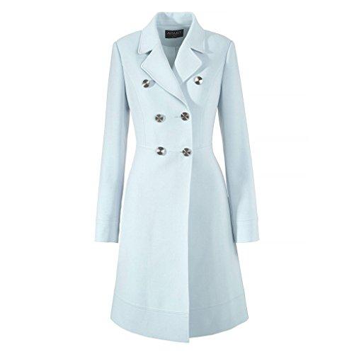 CRAVOG Übergansmantel Damen Mantel Blau Parka Jacke