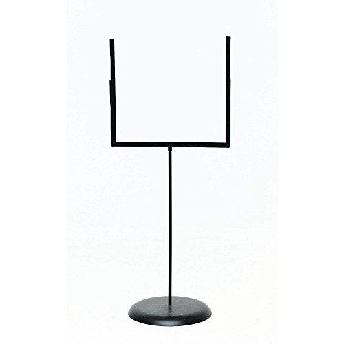 Floor Standing Sign Holder, Black Metal Goal Post Style - 22''L x 52''H by SHAW & SLAVSKY INC