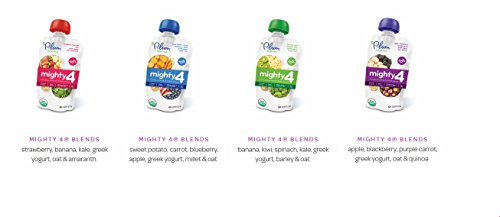 Plum Organics Mighty 4 Essential Nutrition Blend Pouch, 4 Ounce (Pack of 12)