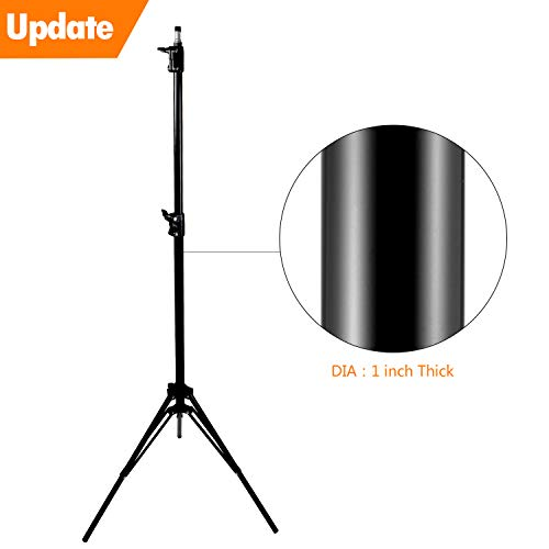 Update 78inch/6.5 Ft/200CM Photography Tripod Light Stands for Photo Studio Relfectors Softboxes Lights Umbrellas Backgrounds Video Lighting Studio Monolight Studio Kits Aluminum Alloy(2M X1)
