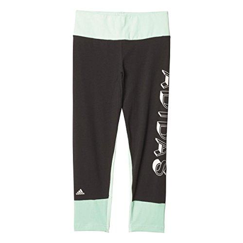 adidas Mädchen Trainingshose Future Athlete Tights 7/8 Hose, Utility Black/Ice Mint/Ice Green, 152