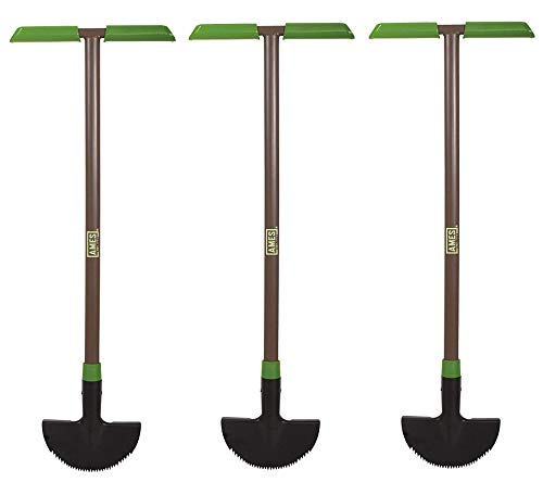 AMES 2917200 Saw-Tooth Border Edger with T-Grip, 39-Inch (Тhrее Pаck)
