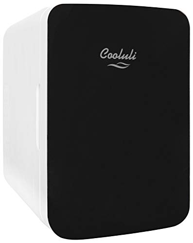 Cooluli Infinity 10-liter Compact Cooler/Warmer Mini Fridge for Cars, Road Trips, Homes, Offices, and Dorms (Black)