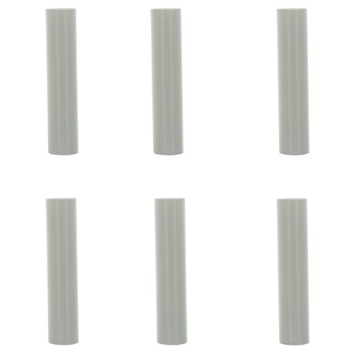 Creative Hobbies 1751 - Set of 6, 4 Inch Tall White Plastic Candle Covers Sleeves Chandelier Socket Covers ~Candelabra Base 6 Candle Chandelier