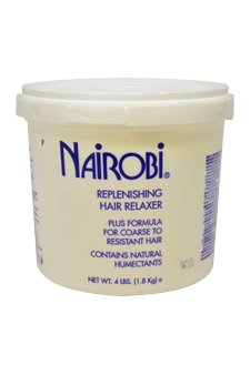 Nairobi Replenishing Hair Relaxer Plus Formula For Coarse To Resistant Hair Unisex Relaxer, 64 Ounce