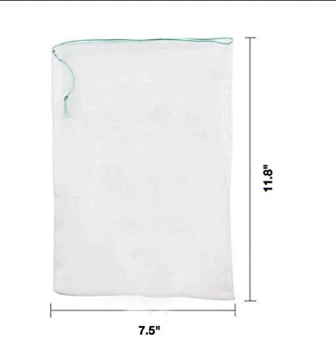 LAVZAN 7.5'' X11.8'' (25Pcs) Nylon Netting Protect Bags For Fruits Vegetables Protect Your Fruit From Birds Insects Squirrels