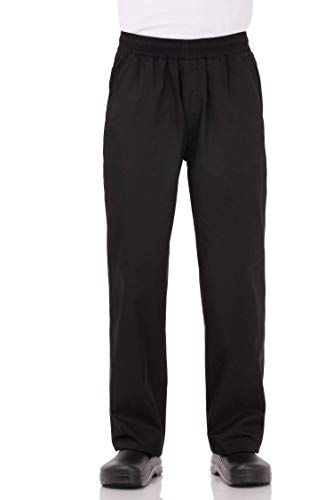 Chef Works Men's Essential Baggy Chef Pants, Black, X-Large (Best Work Pants For Plumbers)