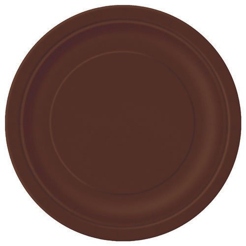 Brown Paper Cake Plates, 20ct