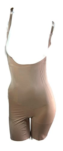 SPANX Oncore Open-Bust Mid-Thigh Bodysuit, Soft Nude, Large