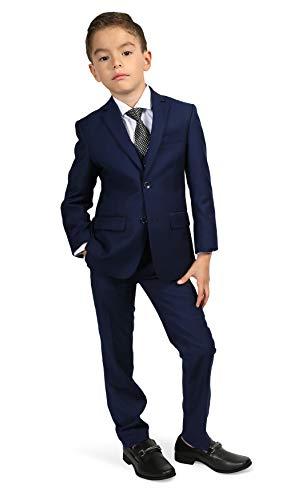 Ferrecci Boys Jax Jr Modern Fit Notch Lapel 5 Piece Suit Set Navy Size 2