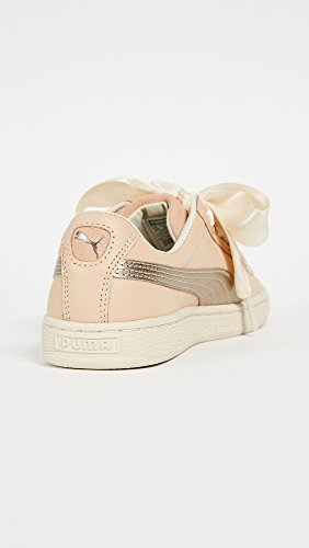 Puma Womens Basket Cuore Up Sneakers Natural Vachetta