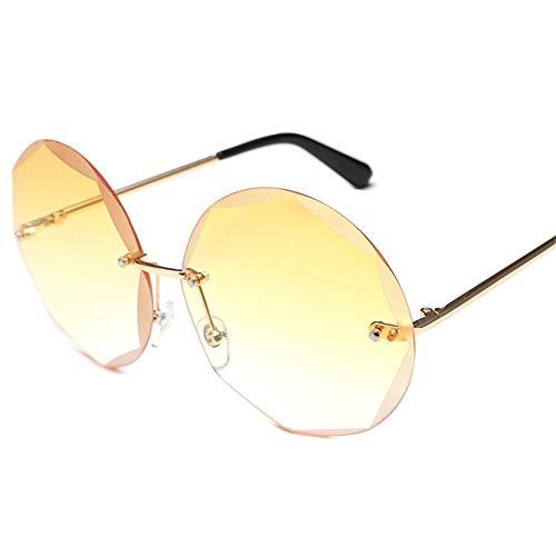 Sunglasses amarillas marco de Gafas Sra sin Personality de NIFG sol moda 1q7OPaEw