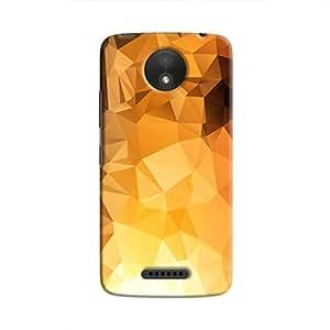 Cover It Up - Gold Sunrise Pixel Triangles Motorola Moto C Hard Case