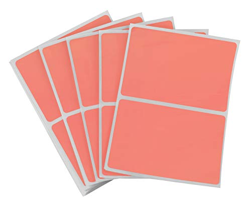 ChromaLabel 2 x 3 inch Name Tag Stickers | 150 Labels/Pack (Salmon)