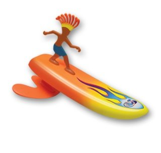 - Surfer Dudes Wave Powered Mini-Surfer and Surfboard Toy - Sumatra Sam