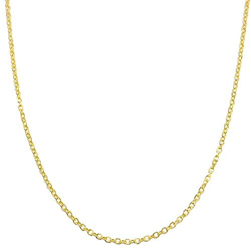 - 14K Gold 1.8MM Diamond Cut Anchor/Cable Chain Necklace- Yellow, White Or Rose -14