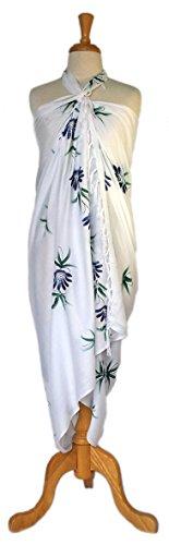 La Floral Peinte nbsp;monde Pour À De 1 Main Bain Blanc Paréos Femme Maillot cYS8qSwF