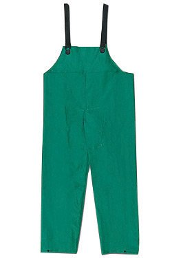 Pvc Bib Pants - River City Garments® X-Large Green Dominator .4200 mm PVC And Polyester Flame Resistant Rain Bib Pants With No Fly Closure And Elastic Adjustable Suspender