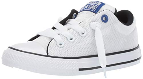 Converse Boys Kids' Chuck Taylor All Star Street Slip On Sneaker, White/Blue/Black 2 M US Little ()