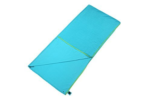 Liner Winter Fleece (WILD-WIND Warm Polar Fleece Zippered Sleeping Bag Liner for Spring Storage Bag Backpacking Blanket (Teal))