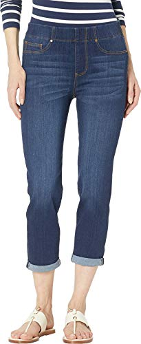 Liverpool Women's Chloe Pull-On Crop Rolled Cuff in Valerie Valerie 10 23