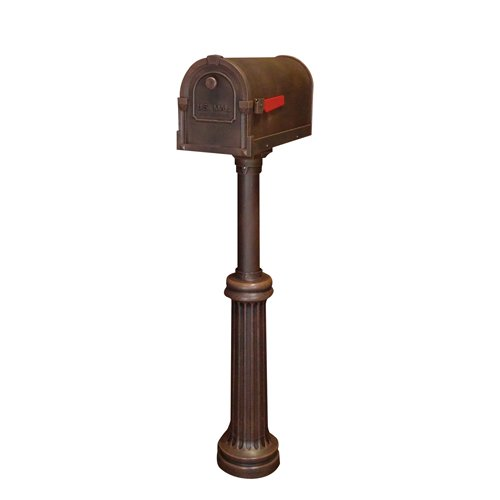 Special Lite Products Savannah Curbside Mailbox with Bradford Direct Burial Mailbox (Bradford Mailbox Post)