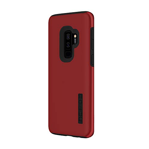 (Incipio DualPro Samsung Galaxy S9+ Case with Shock-Absorbing Inner Core & Protective Outer Shell for Samsung Galaxy S9 Plus (2018) - Iridescent Red/Black)