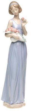 Nao by Lladro Collectible Porcelain Figurine: MY LITTLE BOUQUET - 12-3/4