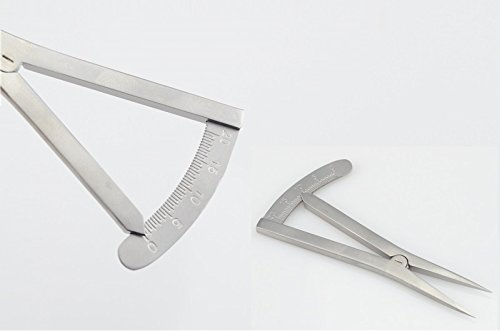 1 piece Ophthalmic Eye Caliper Scale Straight Instrument Tool 20mm Self-lock, Stainless Steel by gzjy (Image #1)