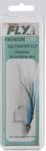 Superfly Salt Water Deceiver Lure, Blue/White, #04