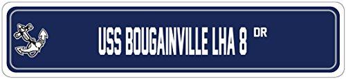 BOUGAINVILLE LHA 8 Street Sign AMPHIBIOUS TRANSPORT Navy Ship Veteran Sailor