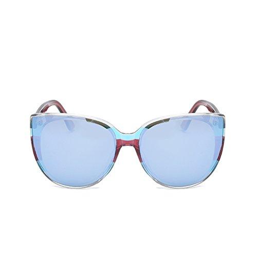 暴露添付予算YUBIN サングラス女性大きなサングラス女性の潮ヴィンテージ長い顔偏光眼鏡大きなサングラス (色 : C)