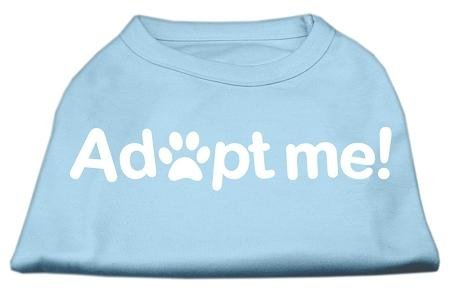 Mirage Pet Products Adopt Me Screen Print Shirt, X-Large, Baby bluee