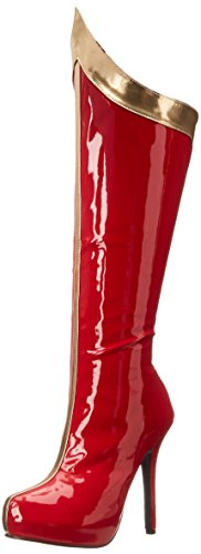 (Ellie Shoes Women's 517 Comet Boot, Red/Gold, 8 M US)