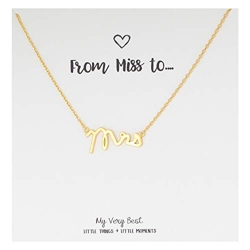 My Very Best Mrs Necklace (Gold Plated -