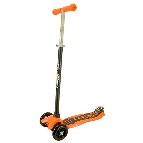 "JoyRiders 3-Wheel Super Kick Scooter with Extendable Handle, Orange, 27-37"""