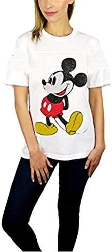 アニメ 漫画 Mickey Mouse ミッキーマウス メンズ/レディース Tシャツ/夏服 スポーツ Tシャツ ブラック/半袖 Tシャ