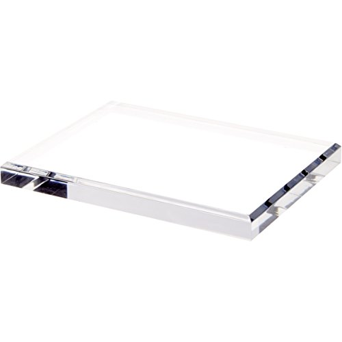 Plymor Brand Clear Acrylic Rectangular Beveled Display Base.75