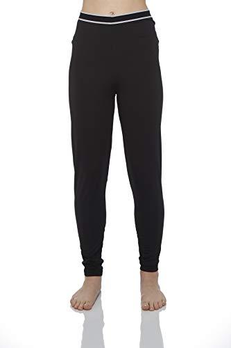 (Rocky Women's Fleece Lined Thermal Bottoms Long Underwear Baselayer Pants Legging (2Xlarge, Black))