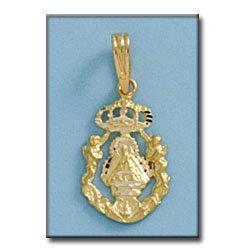 Médaille D'or 18kt Vierge De La Cabeza